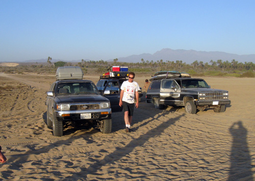 In La Pastora, only an hour north of the southern most point of Baja, we once again scramble to get into the water before the sun sets